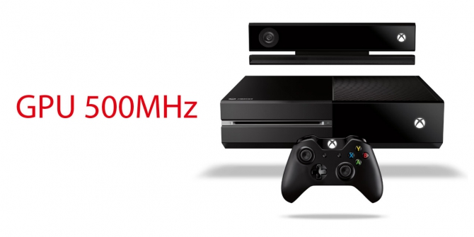 GPUはPS4が800MHz、XBOX ONEは500MHzか